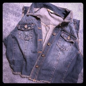 Blue jean vest—plus size